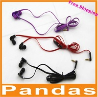 Wholesale 50pcs/lot Hot selling Free shipping L-plug In-ear Headphone without controltalk for mp3/mp4