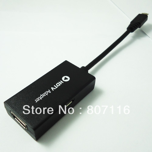 for Samsung Galaxy S3 I9300 MHL Micro USB 11pin To HDMI HDTV Adapter Cable high quality free shipping(China (Mainland))