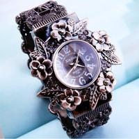 2014 New Style Wholesale Vintage Bronze Quartz Bracelet watch.Fashion women watches.TOP quality.Free shipping.
