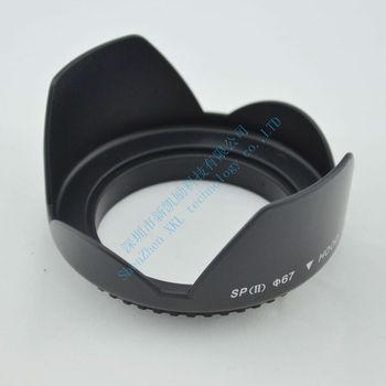 Wholesale tracking number provide Universal 67mm Petal Flower shape Screw Mount camera lens hood  Compatible all brand