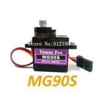 free shipping 10pcs /lot Tower Pro Metal gear Digital MG90S 9g Servo Upgraded SG90 For Rc Helicopter plane boat car MG90 9G