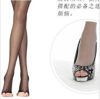 Free Shipping Woman's Sexy Open Toe Pantyhose Summer Tights For Ladies Free Size  Socks  PT-005