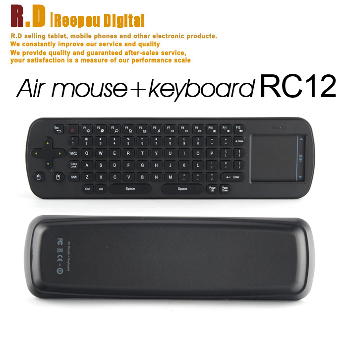 New RC12 Wireless 2.4GHz Air Mouse + Touchpad Handheld Keyboard Combo for Android TV BOX Dongle mini PC TV Player(China (Mainland))