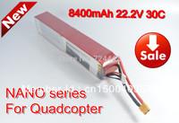 Free shipping DJI lipo battery 22.2V 8400mAh 30C 6S2P  Akku For  Quadcopter high quality for ebike fpv multicopter