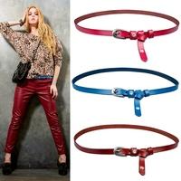 Cummerbund fine cowhide strap Women women's belt genuine leather fashion all-match decoration sb's belt tieclasps