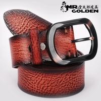 Male genuine leather strap denim belt male business casual pin buckle cowhide belt male