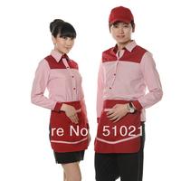Summer work wear work wear long-sleeve restaurant uniforms