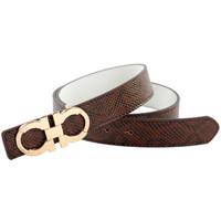 Serpentine pattern male Women strap male women's wide belt casual fashion all-match personality smooth buckle belt