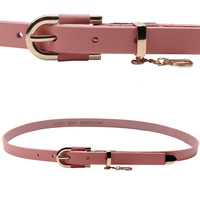 Genuine leather cowhide women's thin belt strap belt fashion all-match Women multicolor candy color