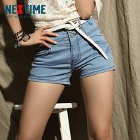 Nextime 2013 high waist buttons vintage shorts female jeans