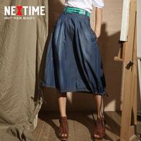 2013 women's denim skirt bust vintage brief expansion skirt all-match 100% cotton short skirt