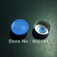 13mm flip off cap, aluminum cap, bottle cap, blue color