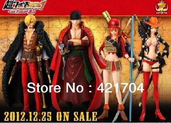 Free shipping Janpanese Anime One Piece Film Z PVC Action Figure Toys  Zoro Sanji Nami Robin Model  14cm set of 4($3 off $70)