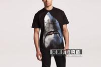 Hot sell men giv shark print t-shirt cotton short sleeve t-shirt shirts tops tees blouse top quality free shipping