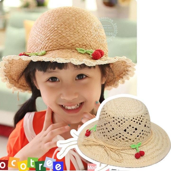 Free Shipping Wholesale Girls Summer Sun Hats Children Toddler Straw Caps Kids Fashion Flower Hats 5pcs/LOT(China (Mainland))
