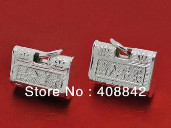 Free shipping 925  Silver 1.45cm Charm Pendants Longevity Safe Lock PC41  Chinese style Fit Bracelet Necklace Min order $5