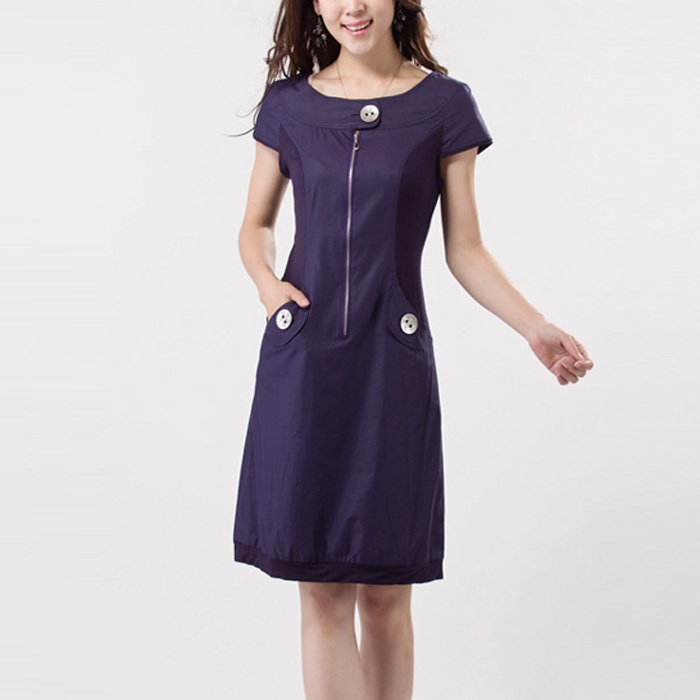 2013 one-piece dress slim dress gentlewomen plus size summer g220 basic skirt(China (Mainland))