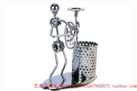 C80 horn band pen container business gift desk decoration