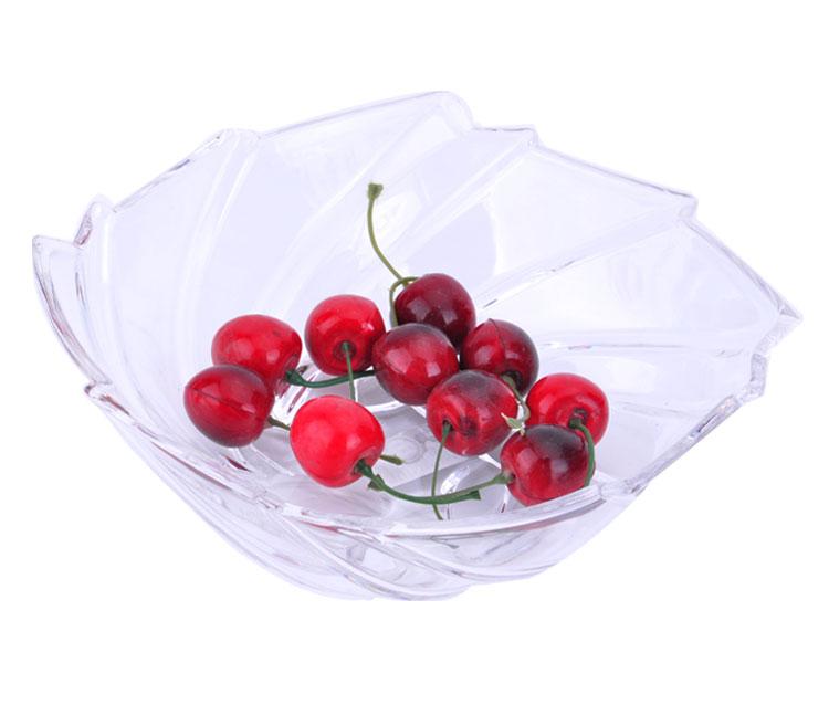 Moda deixa prato de frutas acrílico lanche prato sobremesa sementes definir doces bandeja transparente(China (Mainland))