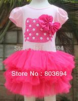 2014 new design summer b2w2 girls hello kitty dress 5pcs/lot CA38