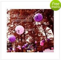 Wholesale - Free shipping 40cm(16inches)  Chinese round paper lantern wedding lantern festival decoration