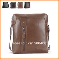 2013 hot sale fashion men shoulder bag, men genuine leather messenger bag,high quality business bag,free shipping 1215