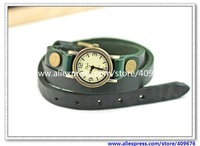 Genuine Cow leather fashion Punk Wrap Women watch TOP quality/ Free shipping