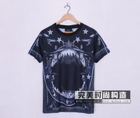 hot sell men giv short sleeve t-shirt shirts shark nude print t-shirt tees tops tank blouse top quality free shipping