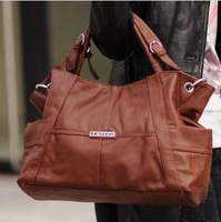 Freeshipping Wpkds 2013 new fashion genuine leather women's handbag cowhide cross-body handbag one shoulder bag