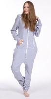 2014 Spring Men women Grey solid Fleece cotton one piece Jumpsuit /unisex adult jumpsuit / unique hoodies