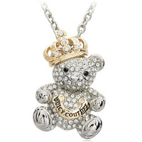 America and Europe pop crown bear pendant necklace free shipping 2013 Good quality sweater chain