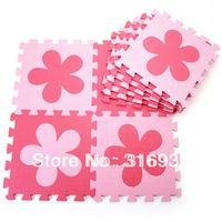 WM018 Flower eva material baby puzzle play mats eco-friendly crawling mat, 10pcs/pack