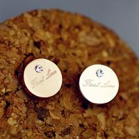 E421 rose gold titanium 18k gold rose gold stud earring anti-allergic earrings