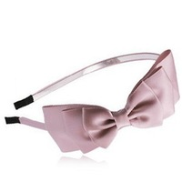 Free shipping High-end three-dimensional satin three bow  girl hair band wholesale