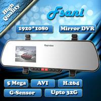 Freeshipping Ultra-thin Rearview Mirror Full HD1920x1080P 25FPS 5.0MP Car DVR Video Recorder Black Box Carcam G-sensor x11