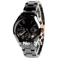 SG Post Free Shipping! 2013 New Style luxury black Ceramics mens quartz Chronograph watch AR1411+ gift  box