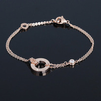 Accessories love series 18k rose gold color gold bracelet titanium single female lovers gift