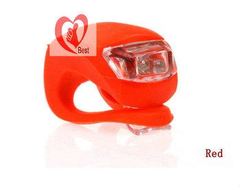 Free shipping 20Pcs/Lot Waterproof 2LED Light Bicycle brake light Headlight Silicone Light Bike Light