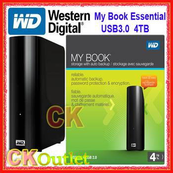 """NEW Western Digital (WD) My Book Essential USB3.0 4T WDBACW0040HBK 3.5"""" Portable External Hard Drive w/3 Year Warranty(Free Gift"""