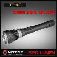 1PC Niteye TF40 Cree XM-L U2 LED Flashlight SS Bezel Magnetic Control 18650 LED Tactical Flashlight Torch +Holster