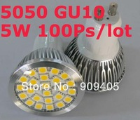 Wholesale freeshipping LED spotlight 24leds 5050 GU10 E27 lamp 5W high-end quality 100pcs/lot