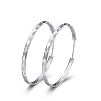 2013 new style 18K Trendy Silver hoop earrings  big earrings