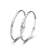 2014 new style 925 Sterling Silver hoop earrings  big earrings