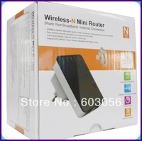 New mini wifi repeater Wireless 300m Router/Repeater with Ap function in retail packing