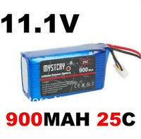 2pcs/Lot Mystery 11.1V 25C 900mAh 3S RC Li-Po Rechargeable Battery JST plug for trex 250 helicopter