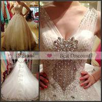 Newly Design,Shiny A-Line V-Neck Alibaba Wedding Dress 2013
