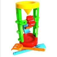 frees hipping Child beach toy set Large hourglass water sand tools