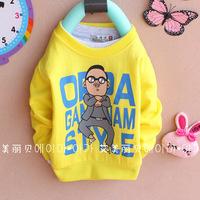 Free shipping baby clothing cartoon t-shirt 4pcs/lot 1-3years 100% cotton