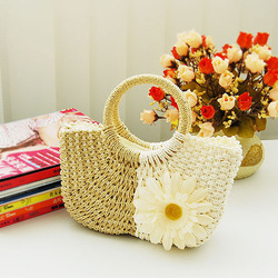 2013 women&#39;s handbags, small bags of fresh straw bags woven bag Clutch candy-colored beach bag cute little bag(China (Mainland))