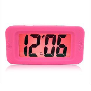 Wood primaries silica gel led electronic clock lcd alarm clock bedside alarm clock